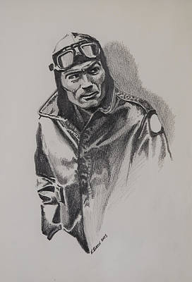 Barnstormer Drawing - Aviator by Kerry Burch