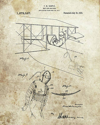 Jet Drawing - Aviator Suit Patent by Dan Sproul