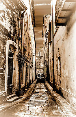 Photograph - Avignon Alley In Monotones by Kay Brewer