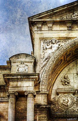 Photograph - Avignon Opera House Muse 1 - Vintage Version by Weston Westmoreland