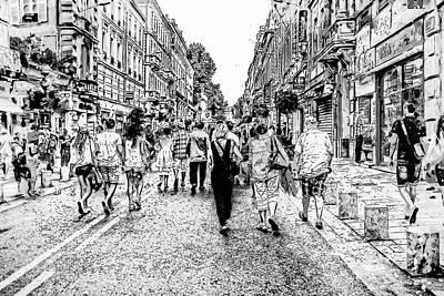 Photograph - Avignon Sketch by Kay Brewer
