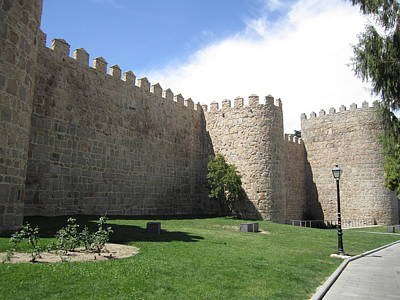 Photograph - Avila Ancient Castle Wall II Spain by John Shiron