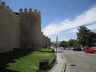 Photograph - Avila Ancient Castle Wall IIi Spain by John Shiron