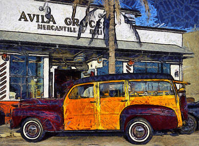 Photograph - Avila Beach 1948 Ford Woodie by Barbara Snyder
