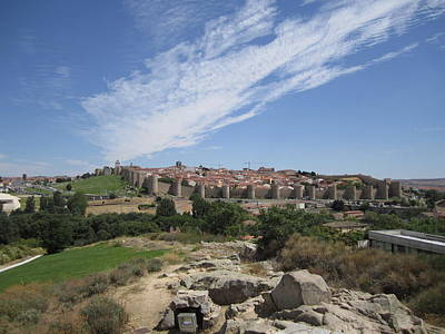 Photograph - Avila Panorama Spain by John Shiron