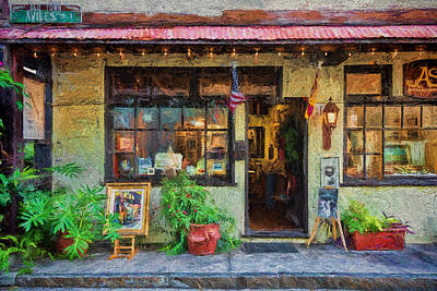 Photograph - Avila Street Shop by Lewis Mann