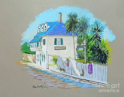 Pastel - Aviles St,st. Augustine ,fla by Rae  Smith PAC
