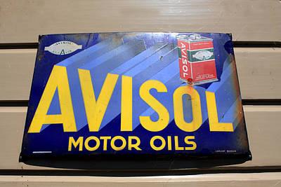 Photograph - Avisol Motor Oil Advertising Sign by Aidan Moran