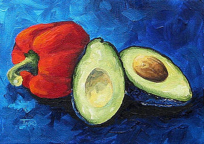 Avocado And Pepper  Art Print by Torrie Smiley