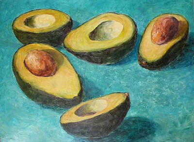 Painting - Avocado Halves by Jill Musser