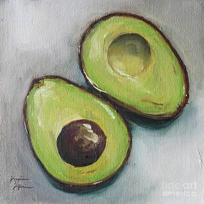 Painting - Avocado by Kristine Kainer