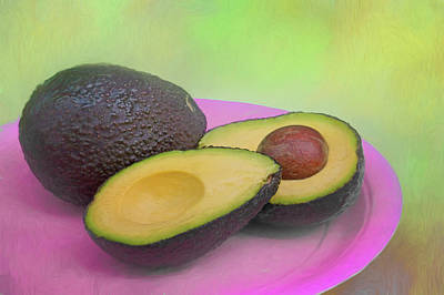 Photograph - Avocado On Pink by Nikolyn McDonald
