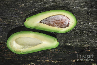 Photograph - Avocado On Wood by Deyan Georgiev