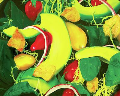 Spinach Painting - Avocado Salad by Ivan Florentino Ramirez