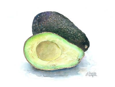 Avocado Painting - Avocados by Arline Wagner