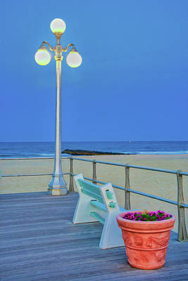 Avon Boardwalk At Twilight Art Print