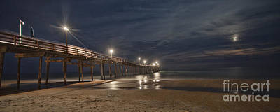 Photograph - Avon Pier At Night by Laurinda Bowling