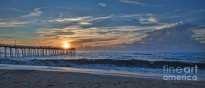 Photograph - Avon Pier At Sunrise by Laurinda Bowling