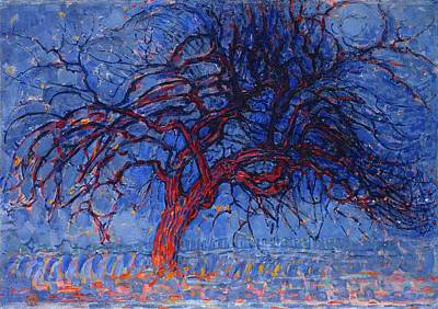 Piet Mondrian Painting - Avond Evening The Red Tree Piet Mondrian by MotionAge Designs