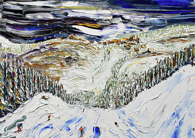 Painting - Avoriaz Ahead by Pete Caswell