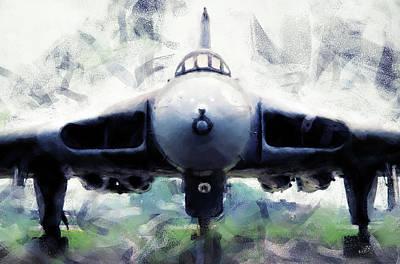 Painting - Avro Vulcan - 01 by Andrea Mazzocchetti