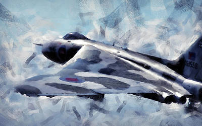 Painting - Avro Vulcan - 05 by Andrea Mazzocchetti