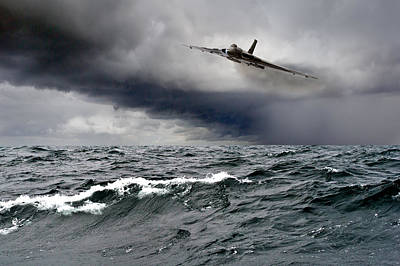 Photograph - Avro Vulcan Black Buck One Atlantic Attack Run by Gary Eason