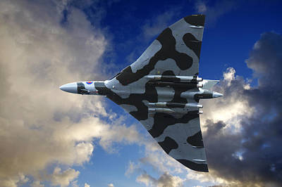 Photograph - Avro Vulcan Bomber In Flight by Steve Ball