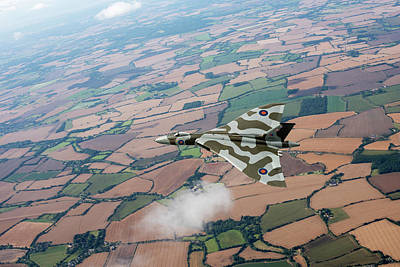 Photograph - Avro Vulcan Over Essex by Gary Eason