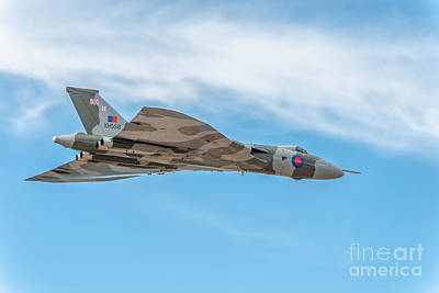 Spirits Digital Art - Avro Vulcan Xh558  by Adrian Evans