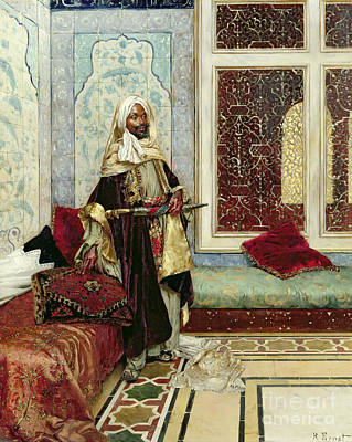 Islamic Painting - Awaiting An Audience by Rudolphe Ernst