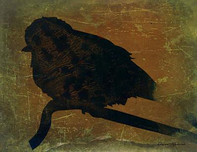 Wildlife Mixed Media - Awaiting Nightfall by Anne Rickard