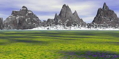 Banff Artist Painting - Awaiting Spring by Wayne Bonney