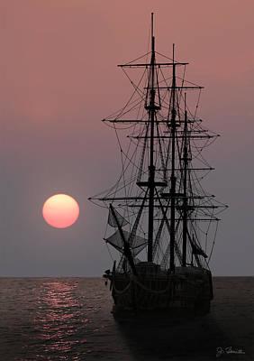 Awaiting The Sunset Art Print by Joe Bonita