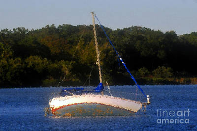 Aground Painting - Awaiting The Tide by David Lee Thompson