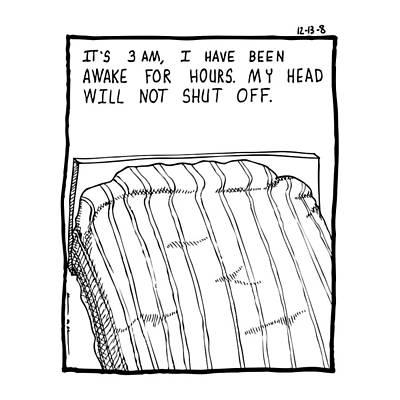 Awake Comic Art Print by Karl Addison