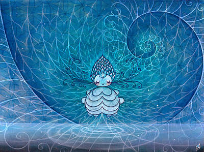 Art Print featuring the painting Awaken Consciousness by Kaori Hamura Long
