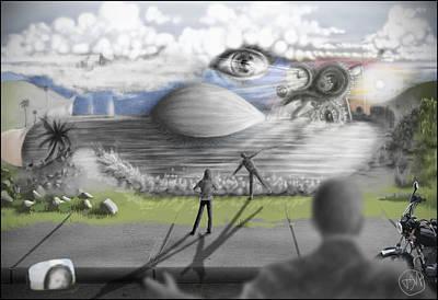 Cliff Lee Mixed Media - Awaken by David Murray