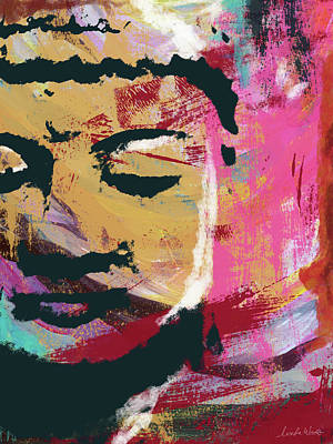 Prayer Wall Art - Mixed Media - Awakened Buddha 3- Art By Linda Woods by Linda Woods