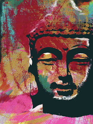 Prayer Wall Art - Mixed Media - Awakened Buddha 4- Art By Linda Woods by Linda Woods