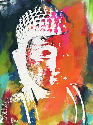 Awakened Buddha 5- Art By Linda Woods Art Print