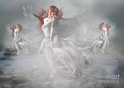Rock Angels Digital Art - Awakening by Babette Van den Berg