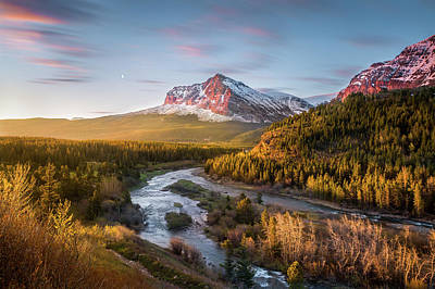 Photograph - Awakening // Many Glacier // Glacier National Park  by Nicholas Parker