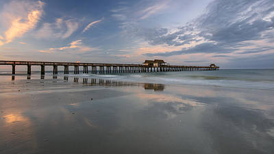 Naples Pier Photograph - Awakening by Mike Lang