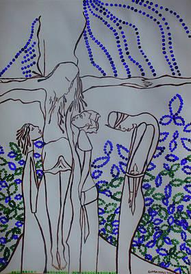 Painting - Awakening Of  Saint Longinus by Gloria Ssali