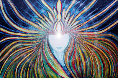 Universal Mother Painting - Awakening Of Self by NARI - Mother Earth Spirit