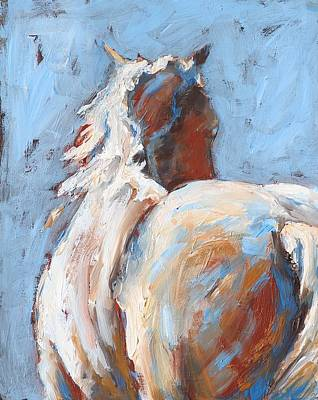 Painting - Away Horse by Eve Werner