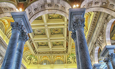Photograph - Awe Struck Ceiling by Ruth Jolly
