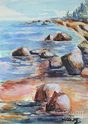 Painting - Awenda Shore by Heather Kertzer