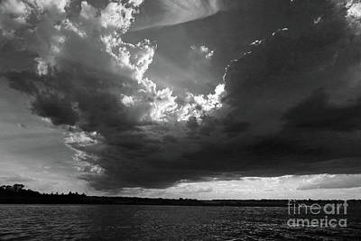 Photograph - Awesome Clouds Over The Bay Bw by Mary Haber